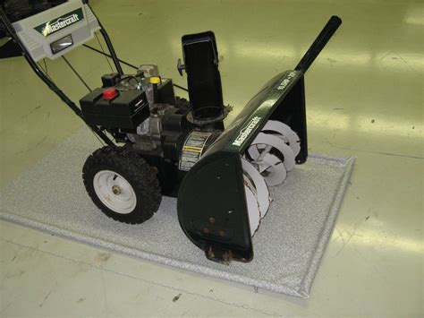 Snowblower Mat by Garage Floor Cover For Snow Blower And Lawnmower Kentainmats