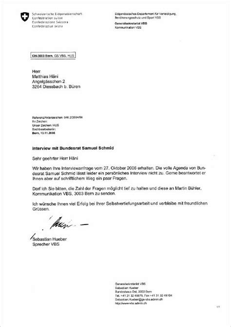 Brief Schweiz Brief Bundesrat Schmid