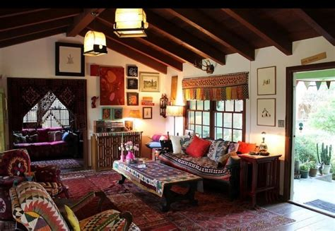 bohemian interior design rustic bohemian interior design with comfortable couch
