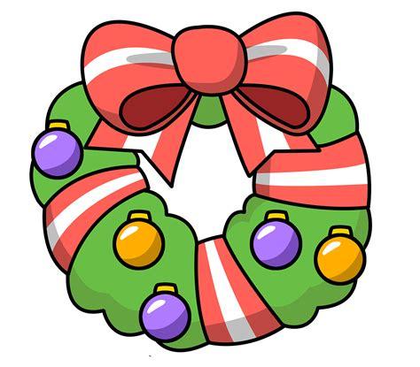 christmas clip art free christmas wreath clipart public domain clip art