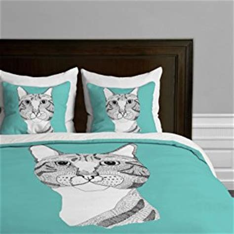 cat design quilt cover amazon com deny designs casey rogers tabby cat duvet