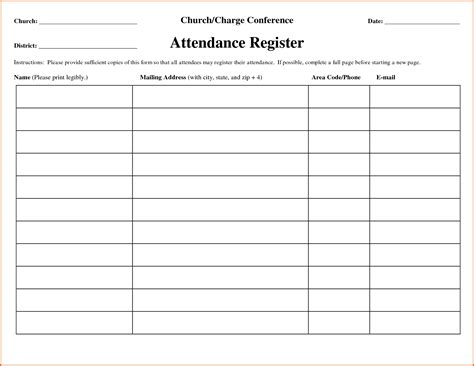 attendance forms template attendance form sle it resume cover letter sle