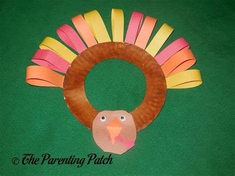 turkey paper plate wreath craft parenting patch