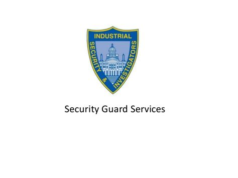 presentation security guard services