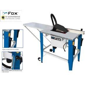 scie sur table fox scie de table outillage fr
