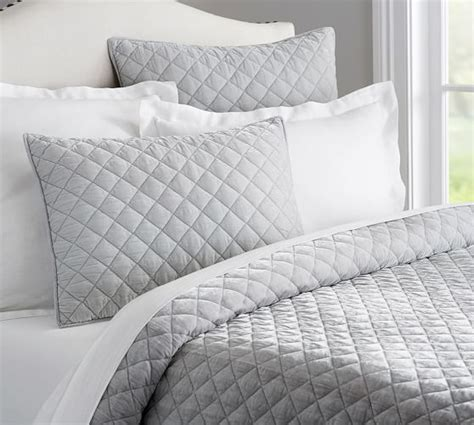 quilted coverlets and shams nia velvet quilt sham pottery barn