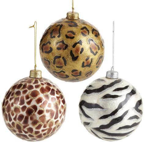 cheetah christmas ornaments animal print christmas