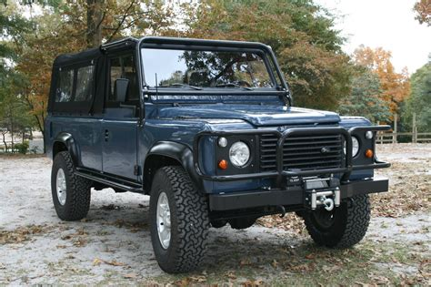 land rover defender convertible for sale frame up restored defender 110 convertible soft top