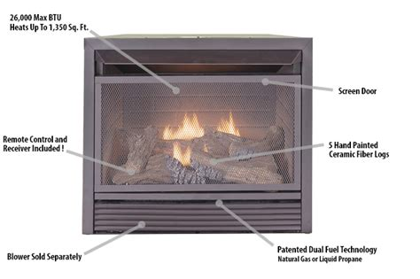 vent free gas fireplace insert with remote duluth forge dual fuel ventless fireplace insert 26 000