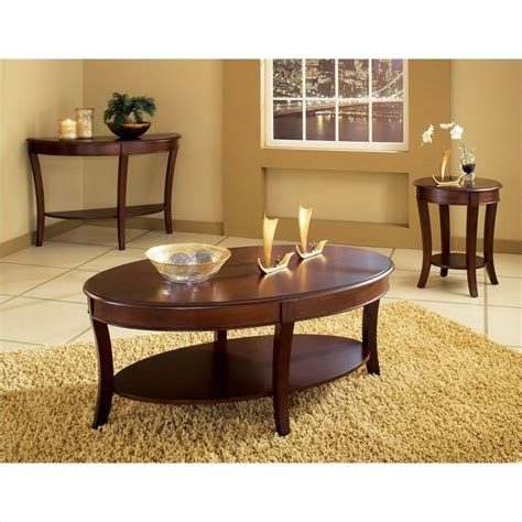 Steve Silver Company Troy Sofa Table In Cherry Finish Ty100s Silver Table Ls Living Room