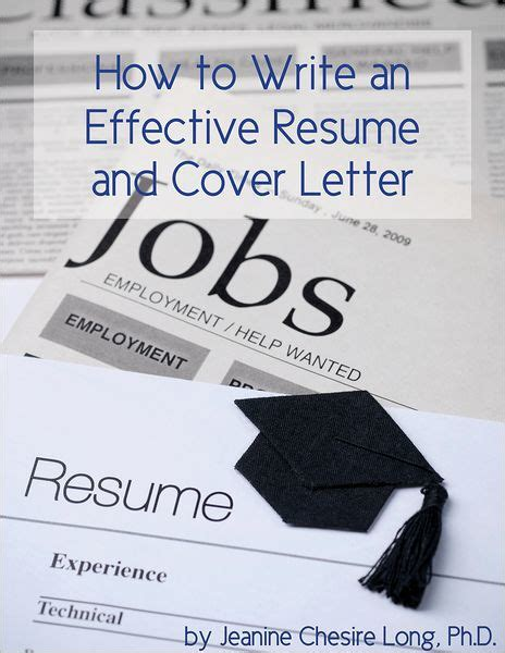 how to write an effective resume and cover letter by