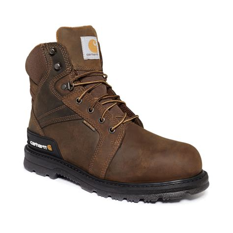 safety toe work boots carhartt 6 inch waterproof safety toe work boots with heel
