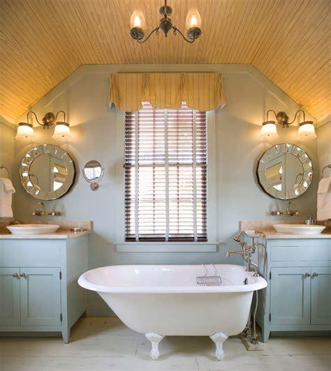 bathroom with blue tub claw foot tub bathroom eclectic with bath blue blue paint