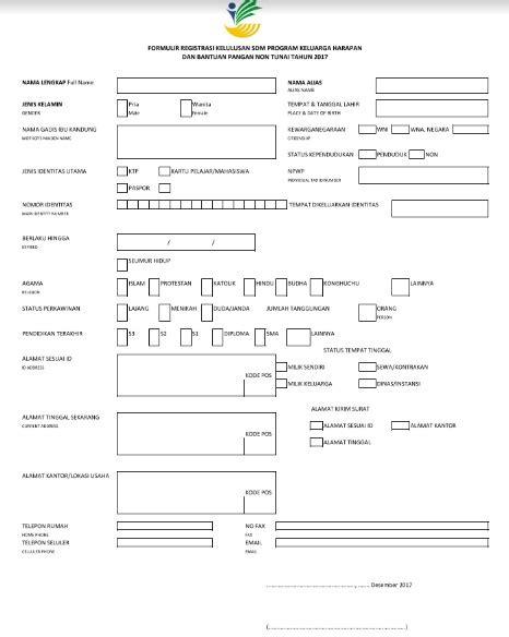 Panduan Pengisian Formulir Identitas Peserta Lulus Seleksi
