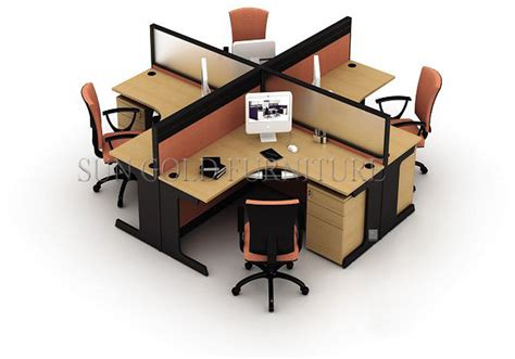 4 person office desk fashionable office workstation partitions 4 person desk