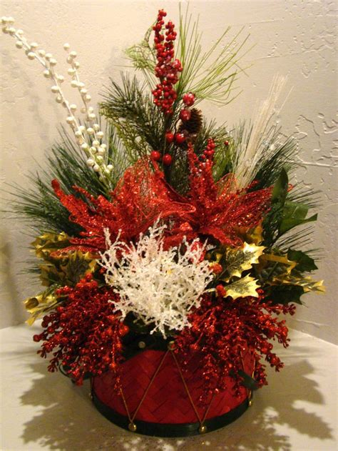 christmas silk floral arrangement 3030 christmas