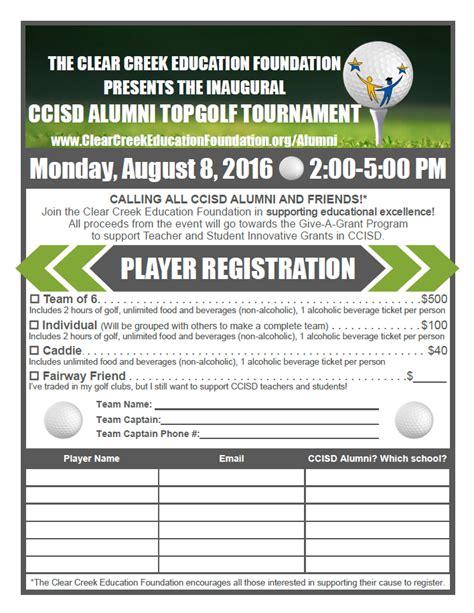 Ccisd Calendar 2016 2016 Ccisd Alumni Topgolf Tournament Clear Creek Education