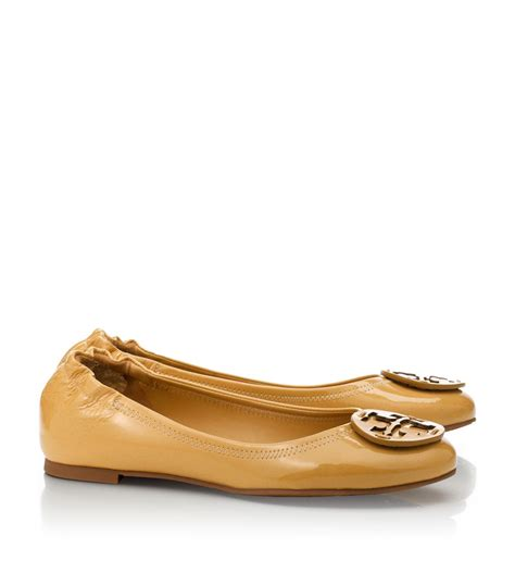 Burch Reva Flats Ghw 38 lyst burch polished patent reva ballet flat in