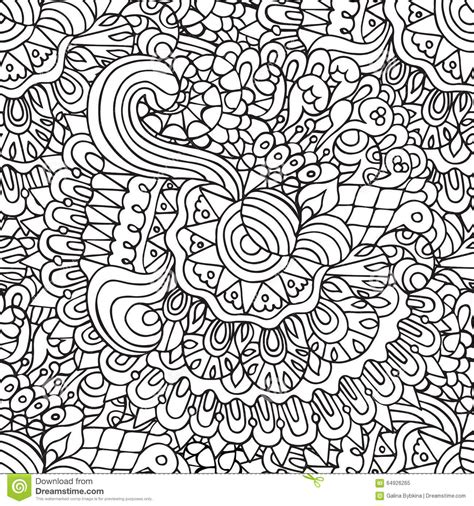 doodle 4 outline doodles floral and outline ornamental seamless