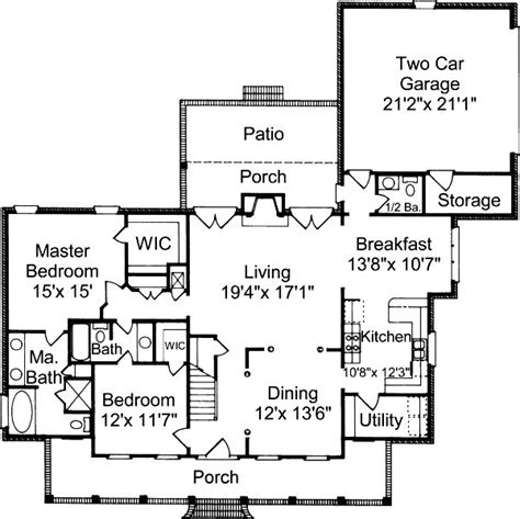 suburban house floor plan southern cottage house plans alp 032h chatham design