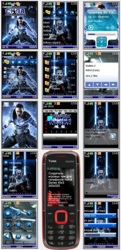 themes nokia s40 240x320 star wars the force unleashed 2 quot theme for nokia s40