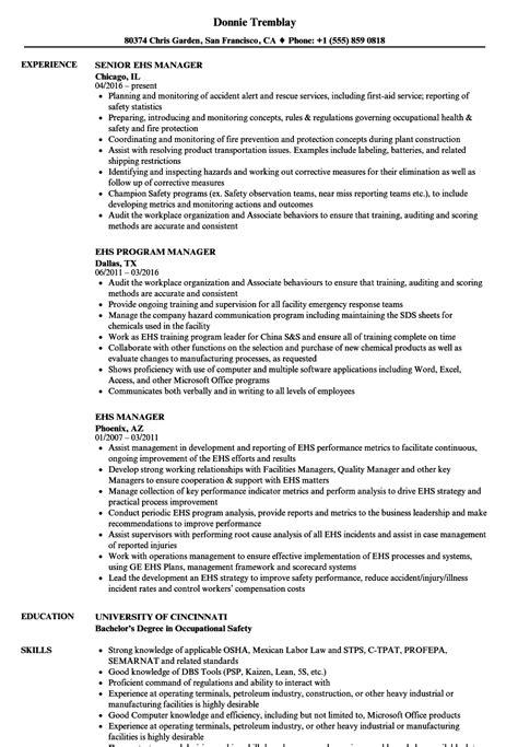 ehs resume luxury ehs resume pattern resume ideas namanasa