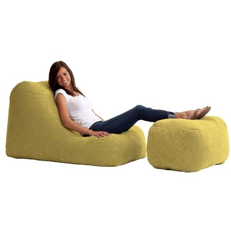bean bag chair with ottoman 17 best images about bean bag chairs on