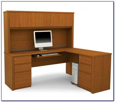 Corner L Shaped Office Desk With Hutch Desk Home Office Max L Shaped Desk