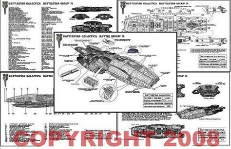 battlestar galactica floor plan 19 pg set of new battlestar galactica blueprints limited