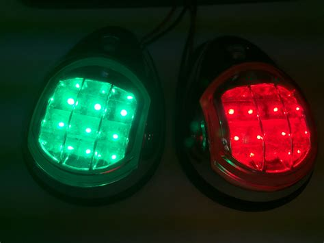 led boat navigation lights marine boat ss304 green starboard red port led navigation