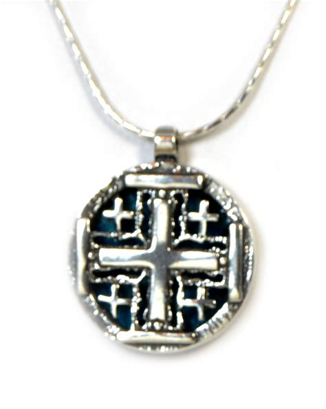 jerusalem cross pendant necklace images