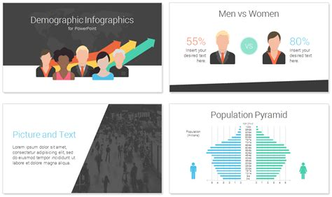 Demographic Powerpoint Template Presentationdeck Com Demographic Infographic Template Powerpoint