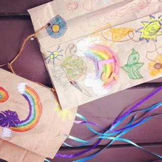 Paper Bag Kite Craft - paper bag kite gettin crafty with natalie