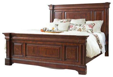 fine heritage mahogany king size mansion bed view in