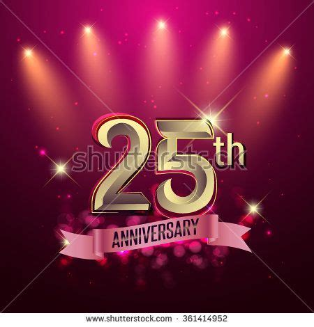 libro illustration now 25th anniversary 25th anniversary party poster banner or invitation background glowing element vector