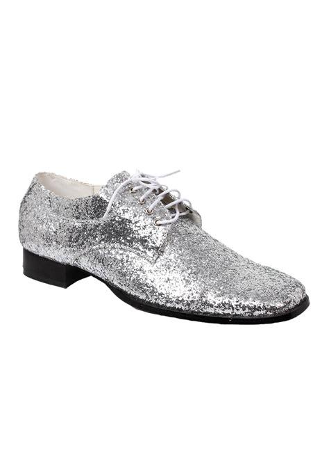 s silver glitter disco shoes