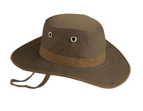 twc6 waxed cotton broad brim wash and pack outback hat by