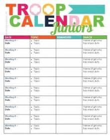 scout calendar template scout troop calendar scouts