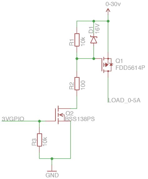 transistor mosfet switch transistors will this p channel mosfet switch work from a 3v3 gpio electrical engineering