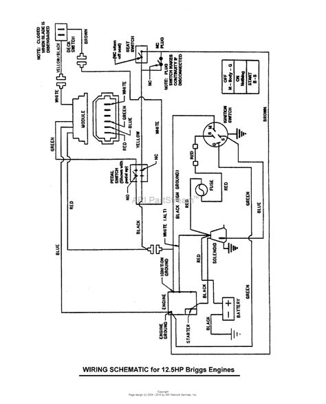 12 5 hp briggs and stratton wiring diagram 42 wiring