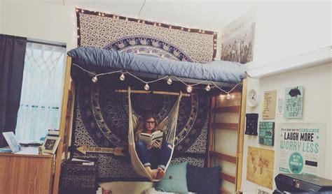 hanging hammock chair for bedroom beds pinterest boho dorm room with hammock azusapacificuniversity