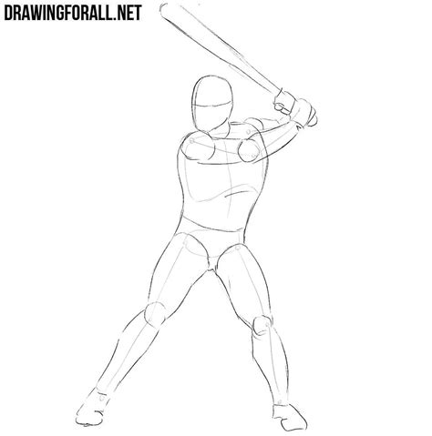 Drawing 2 Player by How To Draw A Baseball Player Drawingforall Net
