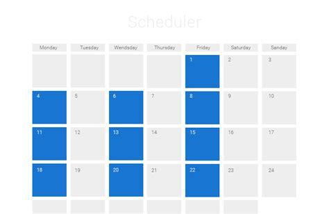 Calendar Api Javascript Javascript Event Calendar Ajax Scheduler Dhtmlxscheduler