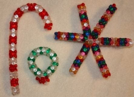 pipe cleaner bead ornaments ornaments made with