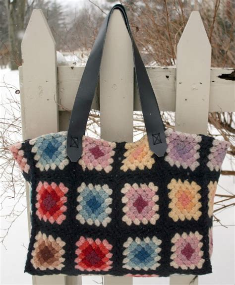 crochet afghan bag pattern 382 best granny square chic love images on pinterest