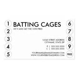punch card template batting cages punch card sided standard business