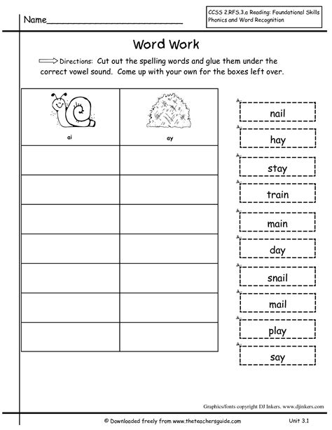activities for 2nd grade spelling words for second grade worksheets releaseboard