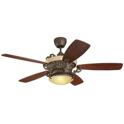 tuscan ceiling fan monte carlo strasburg 56 in tuscan bronze ceiling fan with walnut veneer blades 5sbr56tbd l
