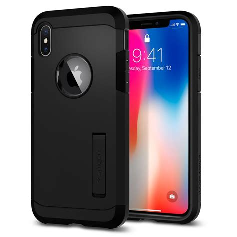 Best Deal Defense Protector Armor For Iphone X Black iphone x tough armor spigen inc