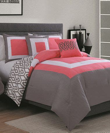 Parure De Lit Chic 911 by Loving This Coral Gray Six Comforter Set On